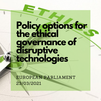 Policy options for the ethical governance of disruptive technologies
